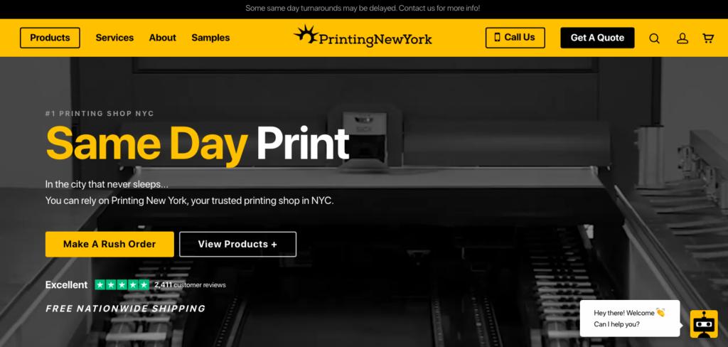 Printing New York