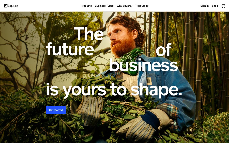 Square homepage