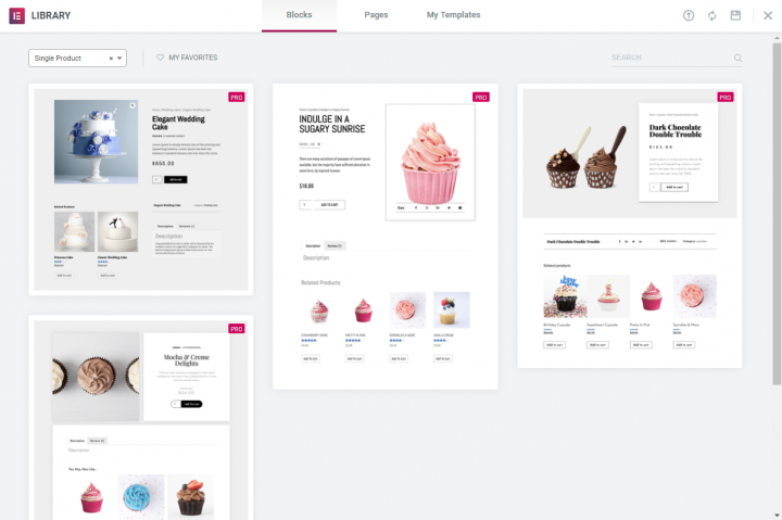 Elementor WooCommerce product pages