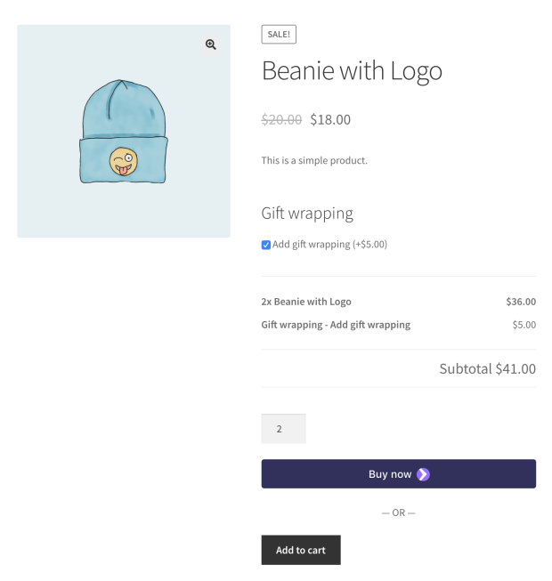 WooCommerce Product Add-Ons extension