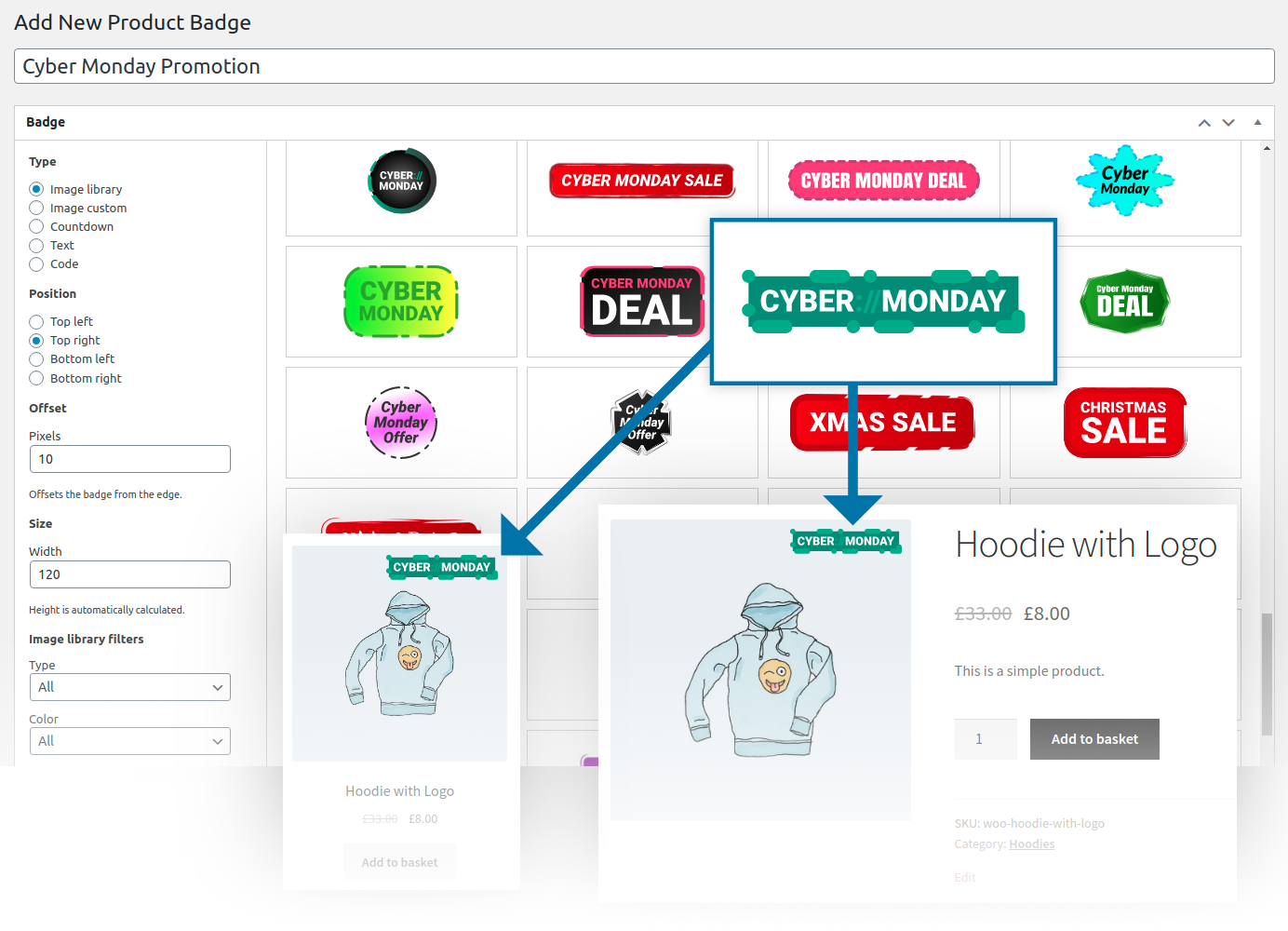 WooCommerce Product Badges extension